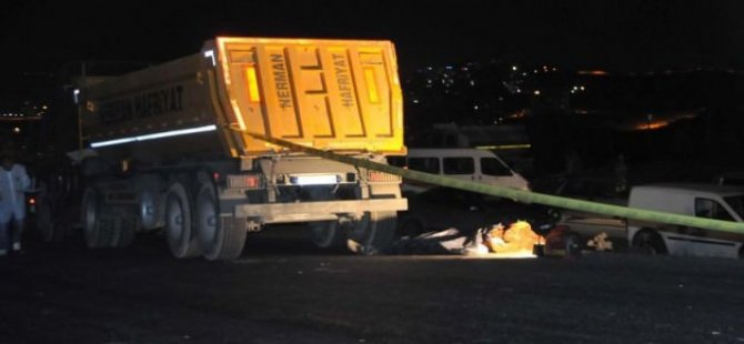 TIR şoförünün korkunç ölümü