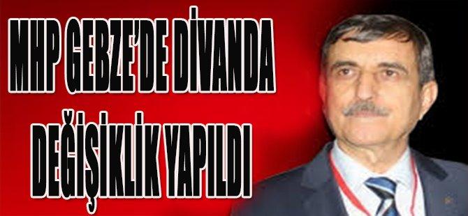 MHP Gebze'de Divanda Değişiklik Yapıldı