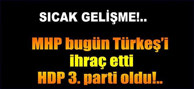 Türkeş'e ihraç