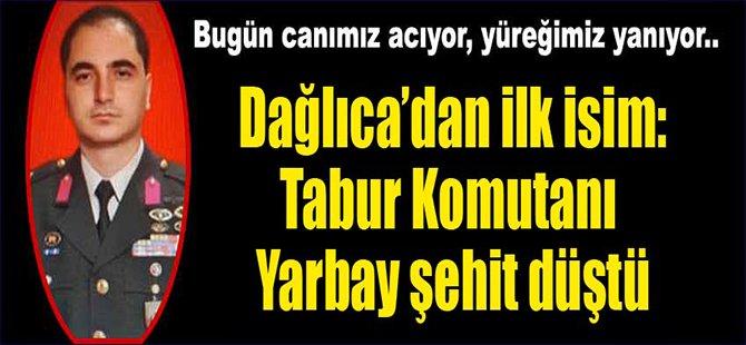 Şehit Yarbayın acısı Bursa'ya düştü