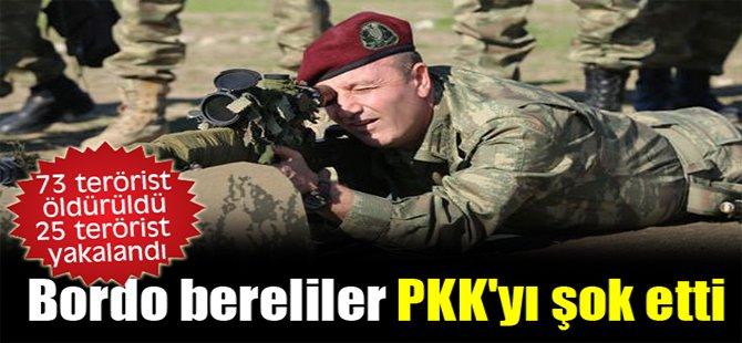 Bordo bereliler PKK'yı şok etti