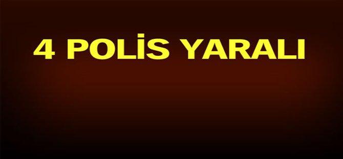Cizre'de 4 polis yaralı