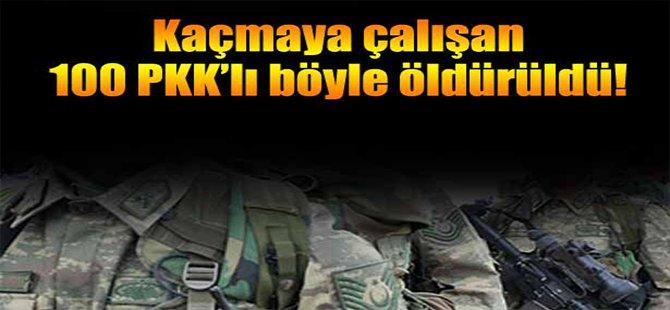 Kaçmaya Çalışan 100 PKK'lı Böyle Vuruldu!