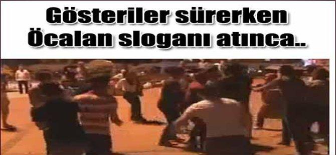 Gösteriler Sürerken Öcalan Sloganı Atınca...