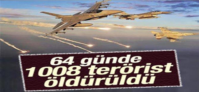 64 günde 1008 terörist öldürüldü