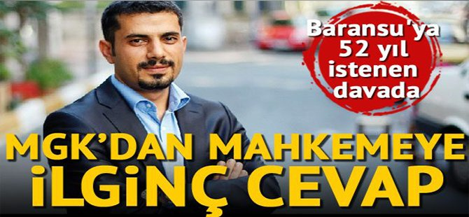 Gazeteci Baransu'nun MGK ve MİT davası ertelendi