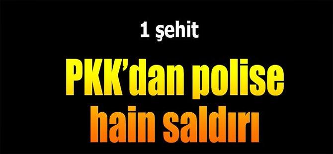 PKK'dan Polise Hain Saldırı! 1 Şehit