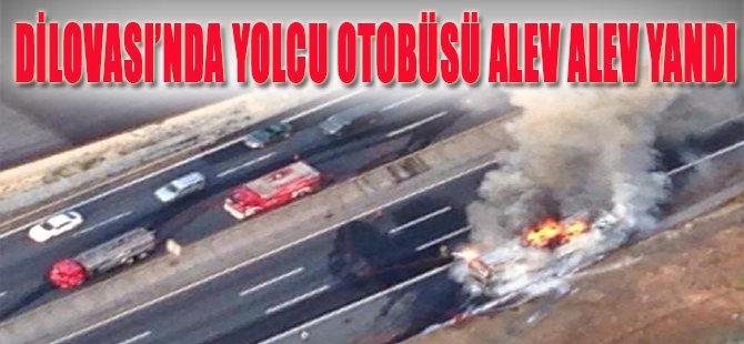 Dilovası'nda Yolcu Otobüsü Alev Alev Yandı!