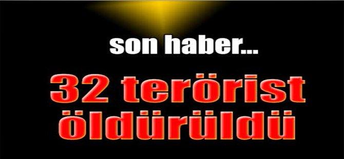 İçişleri Bakanı Altınok: 32 terörist öldürüldü
