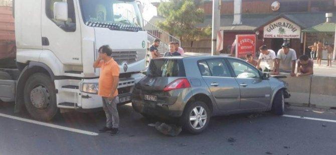 Halıdere'de kaza