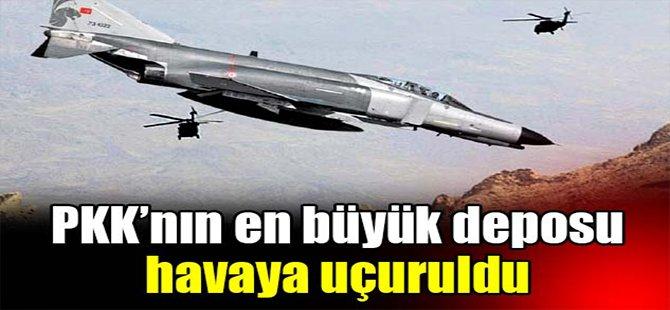 PKK'nın en büyük deposu havaya uçuruldu!