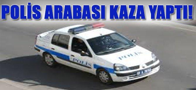 Polis Arabası Kaza Yaptı
