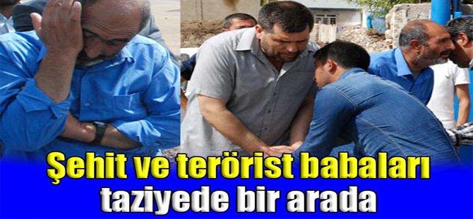 Şehit ve terörist babaları taziyede bir arada