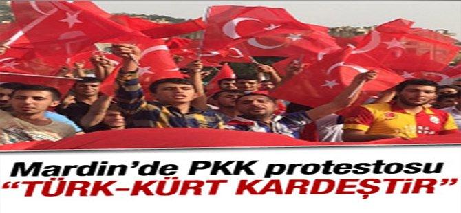 Mardin'de PKK protesto edildi