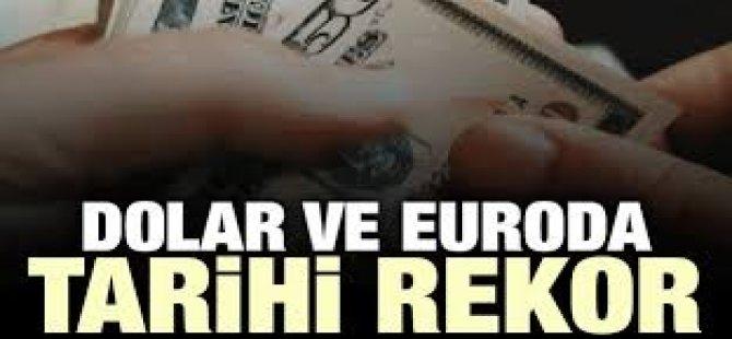 Dolar ve Euro'dan Tarihi Rekor