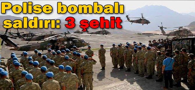 Polise Bombalı Saldırı! 3 Şehit