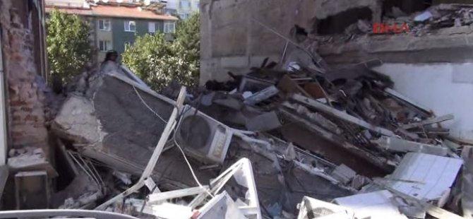 Üsküdar'da 5 katlı bina çöktü!