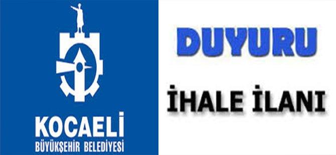 Kocaeli Büyükşehir Belediyesi İhale İlanı