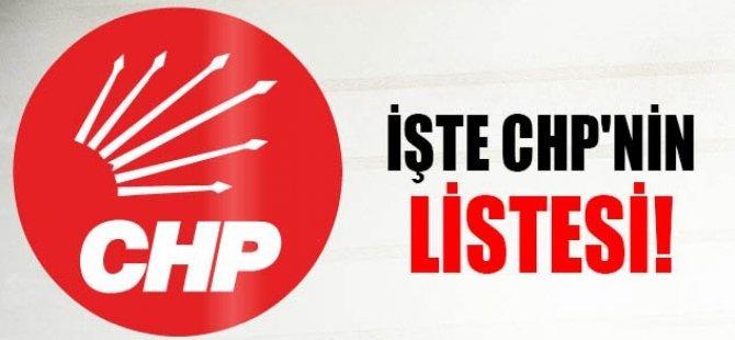 İŞTE CHP'NİN LİSTESİ!