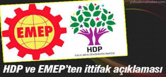 HDP ve EMEP'ten İttifak Açıklaması