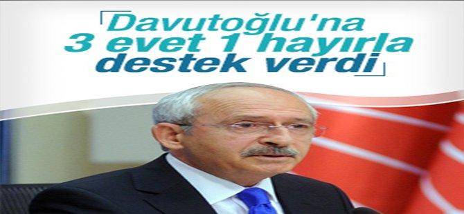 Kılıçdaroğlu'ndan 3 kabul 1 hayır