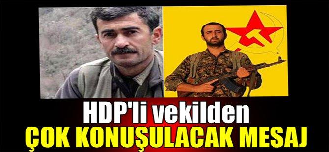 HDP'li vekilden çok konuşulacak mesaj