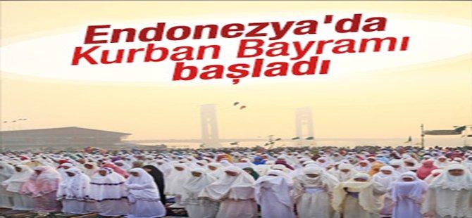 Endonezya'da Kurban Bayramı Başladı