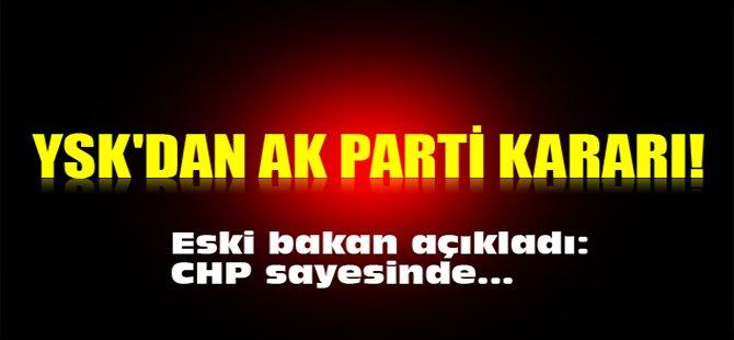 YSK'dan AK Parti kararı!
