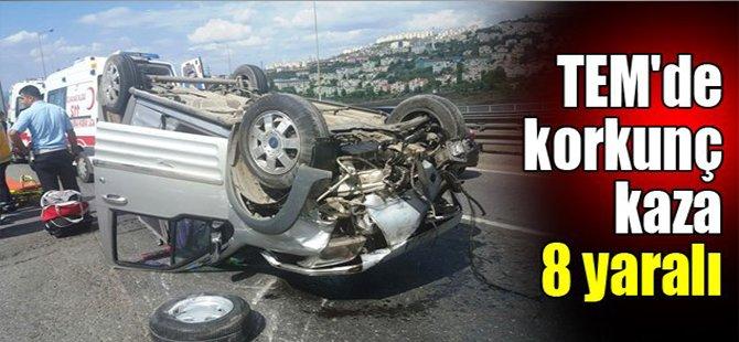 TEM'de korkunç kaza: 8 yaralı