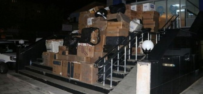 700 bin liralık kaçak sigara yakalandı