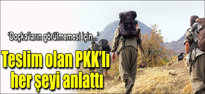 Teslim olan PKK'lı anlattı