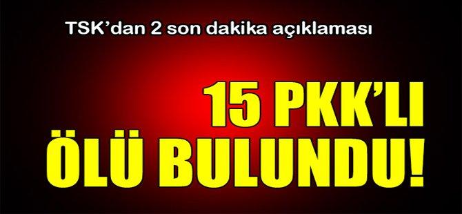 15 PKK'lı ölü bulundu!