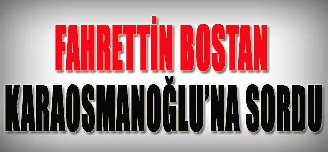 Fahrettin Bostan Karaosmanoğlu'na Sordu