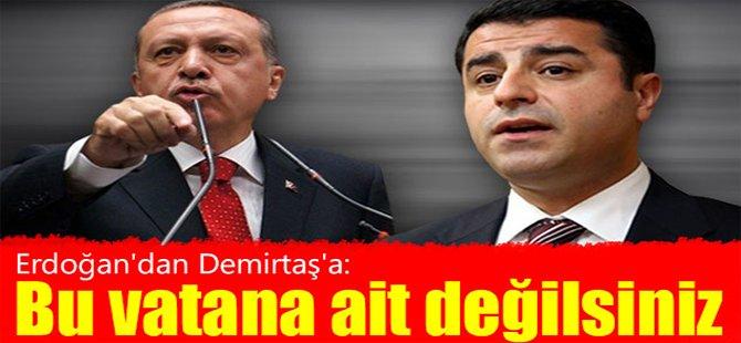 Erdoğan'dan Demirtaş'a: Bu vatana ait değilsiniz...