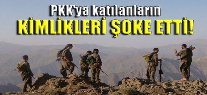PKK'ya katılanların kimlikleri şoke etti!