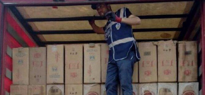 140 bin paket kaçak sigara ele geçti
