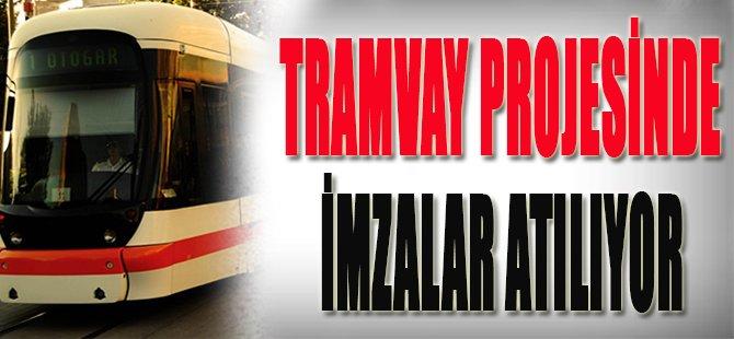 Tramvay Projesinde İmzalar Atılıyor