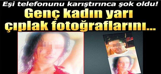 Genç Kadın Yarı Çıplak Fotoğraflarını...