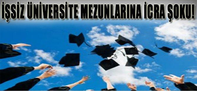 İşsiz Üniversite Mezunlarına İcra Şoku!