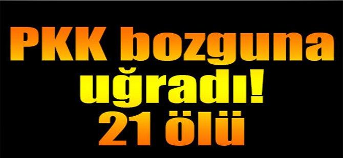 PKK Bozguna Uğradı, 21 Ölü