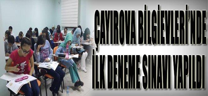 Çayırova Bilgievleri'nde İlk Deneme Sınavı Yapıldı