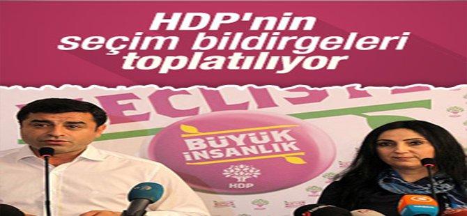 HDP'nin Seçim Bildirgeleri Toplanıyor