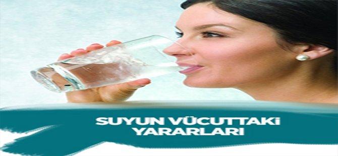 Suyun vücuttaki yararları