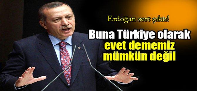 Erdoğan: 'Buna Türkiye olarak evet dememiz mümkün değil'