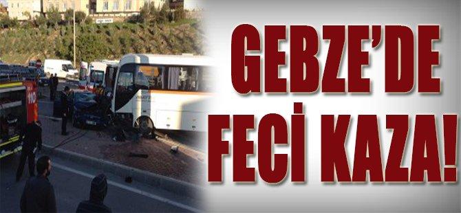 Gebze'de Feci Kaza!