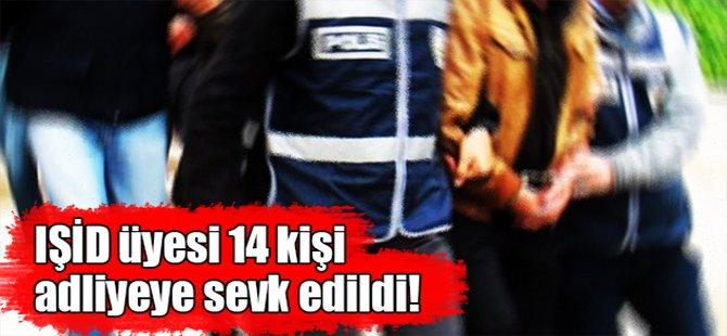 IŞİD üyesi 14 kişi Gebze Adliyesine sevk edildi