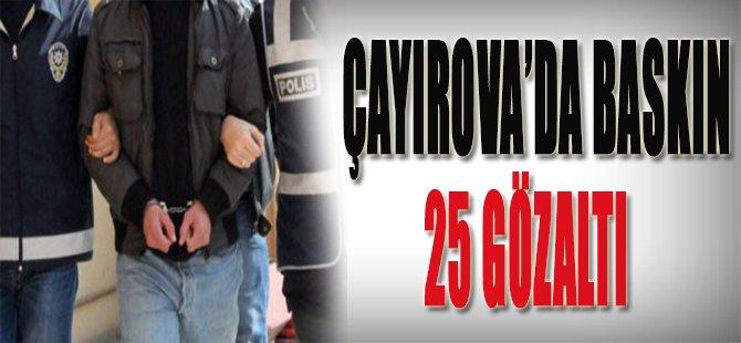 Çayırova'da Baskın 25 Gözaltı