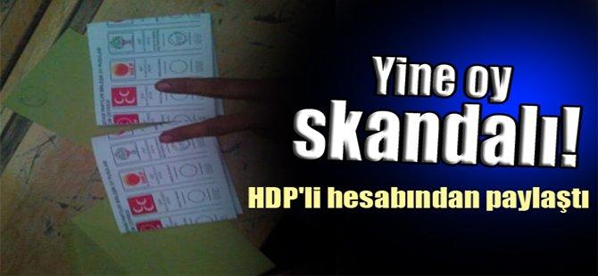 Yine oy skandalı! HDP'li hesabından paylaştı