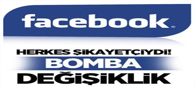 Facebook'tan Bomba Değişiklik