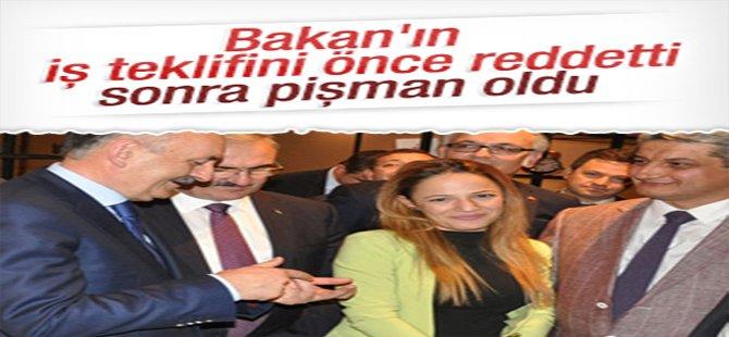 Atanamayan kız Bakanın iş teklifini reddetti